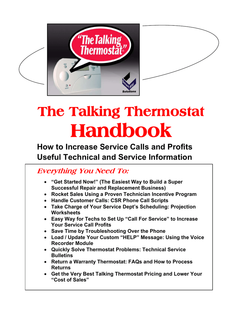Talking Thermostat Handbook Honeywell Round Wiring Diagram Car Tuning