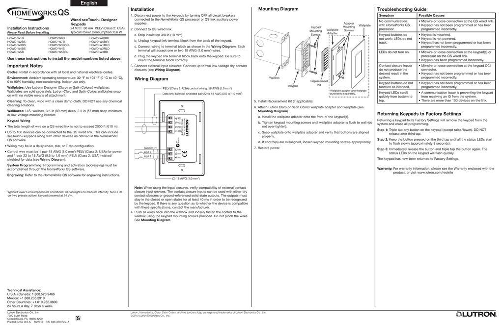 english lutron Homeworks Wiring Diagram homeworks wiring diagram wiring
