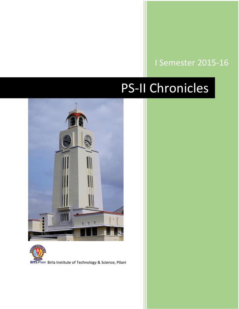 PS-II Chronicles