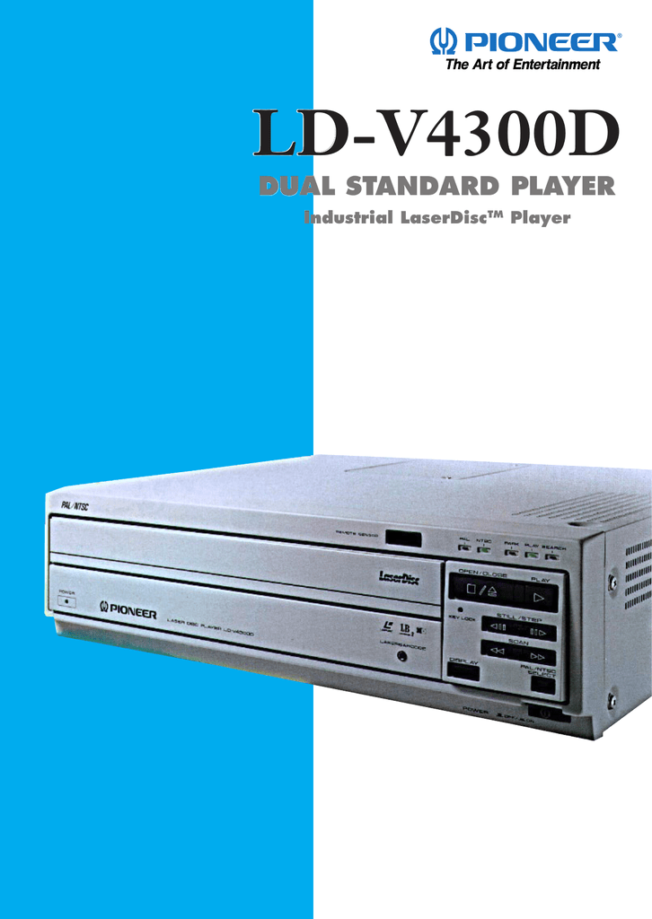 Pioneer LD-V4300D - The Dragon`s Lair Project