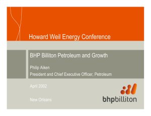 BHP Billiton Petroleum and Growth