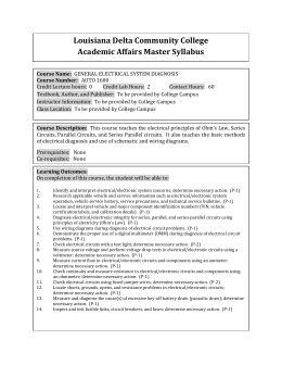 Louisiana Delta Community College Academic Affairs Master Syllabus