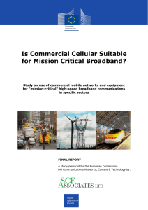 "Use of Commercial Mobile Networks and Equipment for ""Mission"