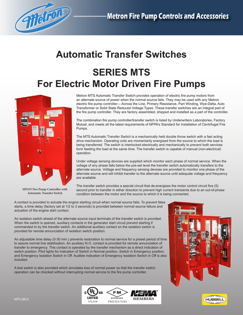 Automatic Transfer Switches Series Mts For Electric Motor Driven Time Delay Circuit Schematic In Addition Switch
