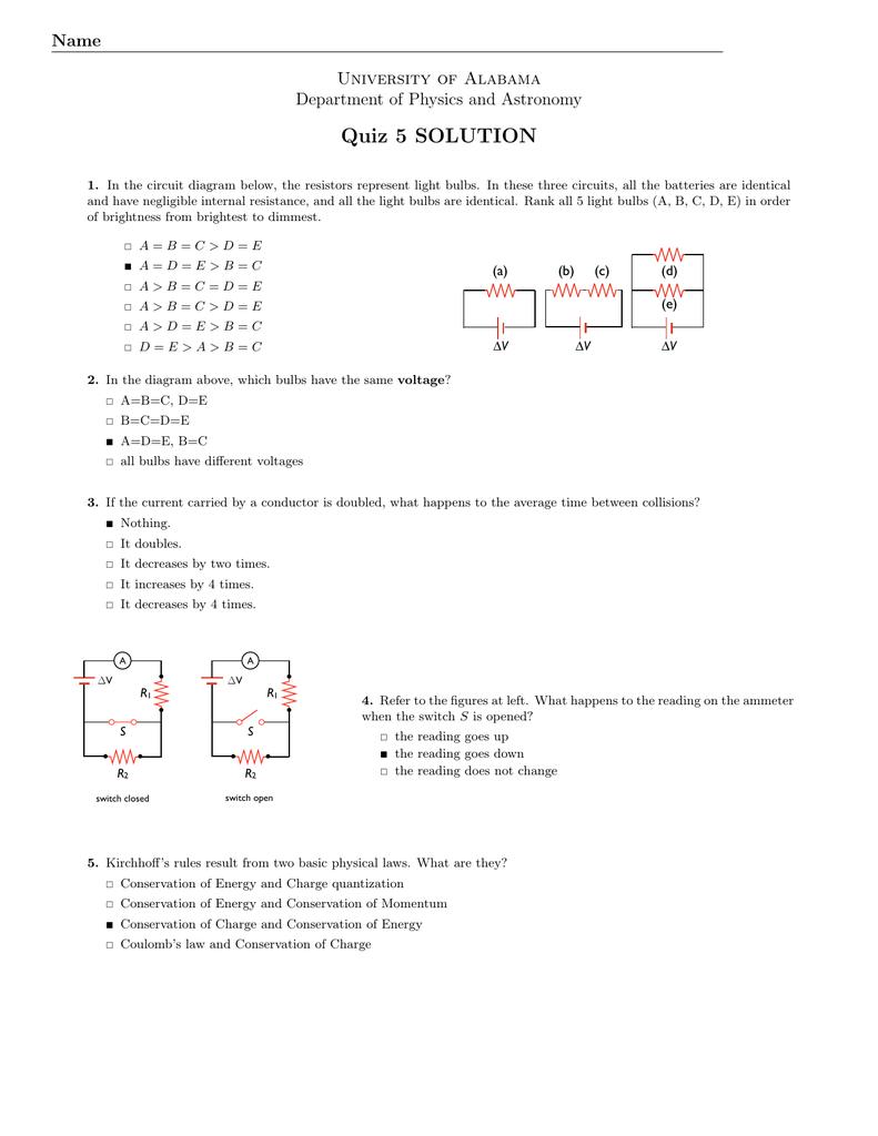 General Physics Ii The University Of Alabama Circuit Diagram Rules