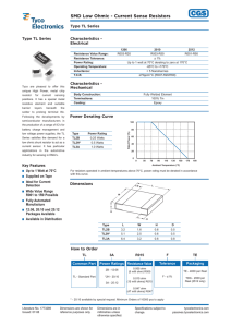 SMD Low Ohmic - Current Sense Resistors - Type TL Series