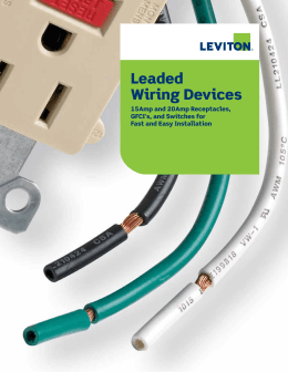 Leaded Wiring Devices
