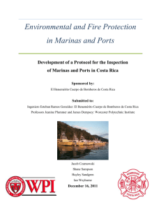 Environmental and Fire Protection in Marinas and Ports