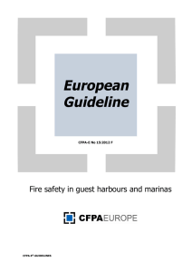 Fire safety in guest harbours and marinas