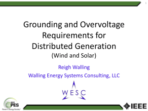 Grounding and Overvoltage Requirements for Distributed Generation