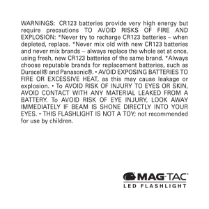 Warnings - Maglite
