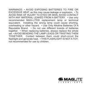 WARNINGS: • AVOID EXPOSING BATTERIES TO FIRE OR