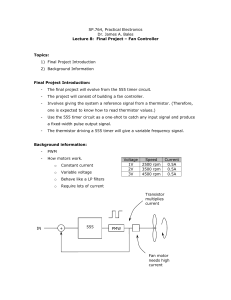 SP.764, Practical Electronics Dr. James A. Bales Lecture 8: Final
