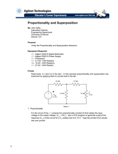 Proportionality and Superposition