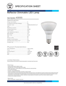 Spec Sheet - Westinghouse Lighting