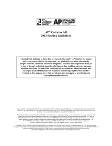 2002 AP Calculus AB Scoring Guidelines - AP Central