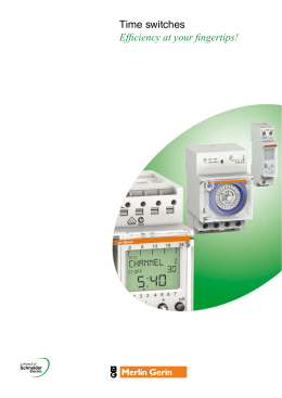 Time switches - Schneider Electric