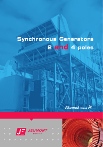 Synchronous Generators 2 and 4 poles