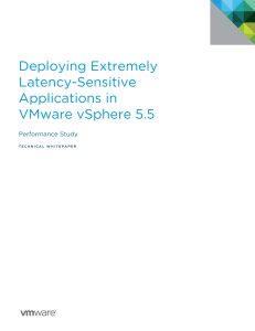 Deploying Extremely Latency-Sensitive Applications in VMware