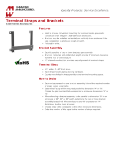 Terminal Straps and Brackets