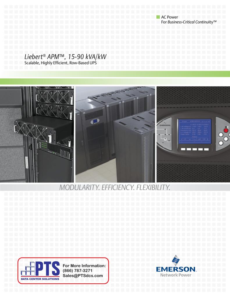 Liebert® APM - PTS Data Center Solutions
