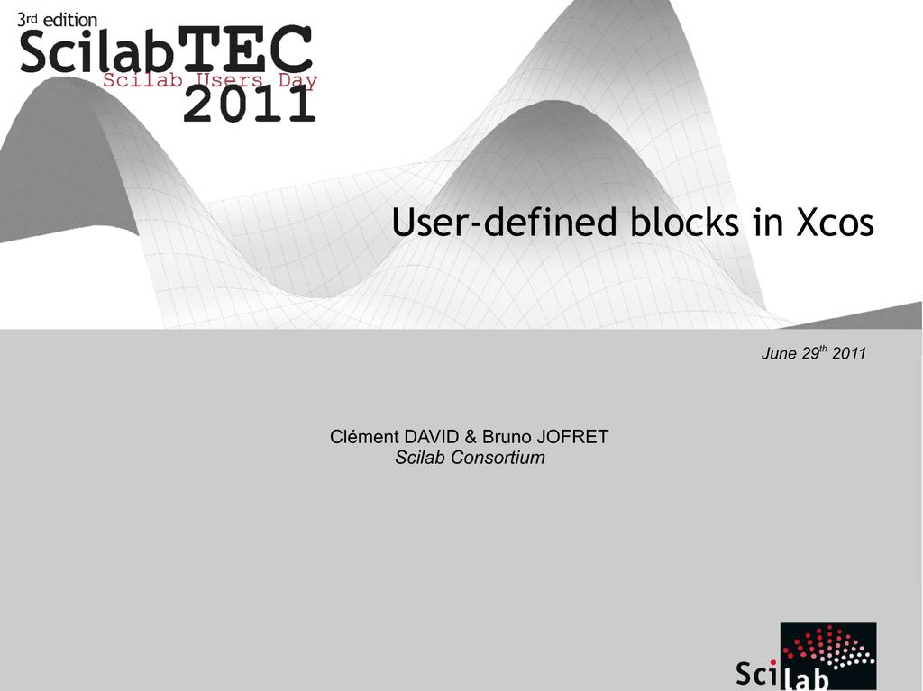 User-defined blocks in Xcos