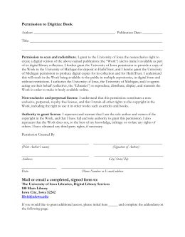 ubc thesis license agreement Submitting a pdf of your thesis to ubc's circle  circle's non-exclusive distribution license as presented on:  eosc_447_thesis_manual_2009doc.