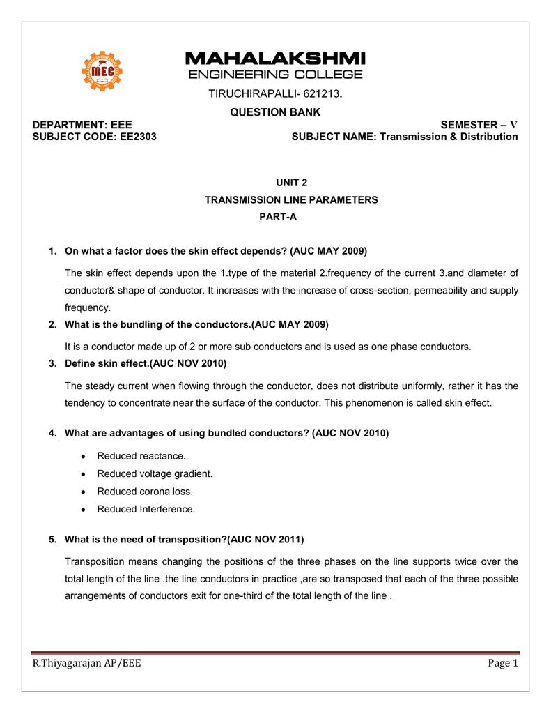 UNIT 2 - Mahalakshmi Engineering College
