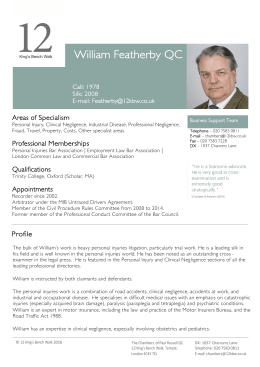 William Featherby QC - 12 King`s Bench Walk