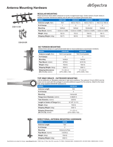Antenna Mounting Hardware - Eastern Communications Ltd.