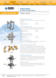 SCR CLAMP MOUNTING PROCEDURES 1  Clean heatsink