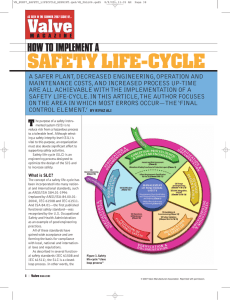 safety life-cycle - Welcome to Emerson Process Management