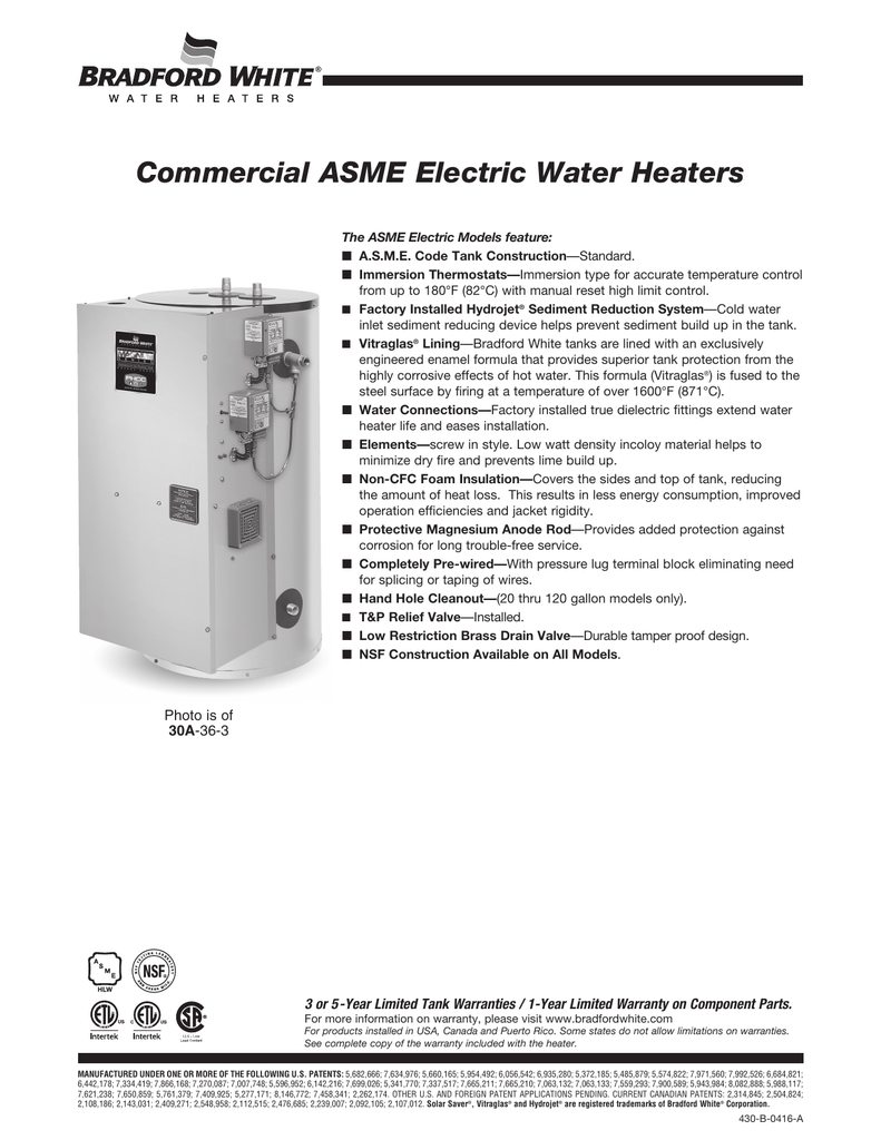 Commercial Asme Electric Water Heaters