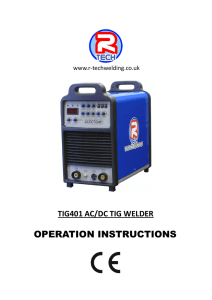 tig401 ac/dc tig welder - R-Tech Welding Equipment Ltd