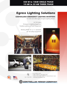 Egress Lighting Solutions   Controlled Power CompanyCentralized Emergency Lighting Inverters. Eon Lighting Inverter. Home Design Ideas