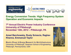 Energy Conversion Trends: High Frequency System Operation and