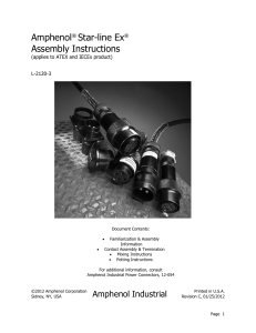 Amphenol® Star-line Ex® Assembly Instructions - PEI