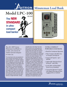 LPC-100 Minuteman Load Bank