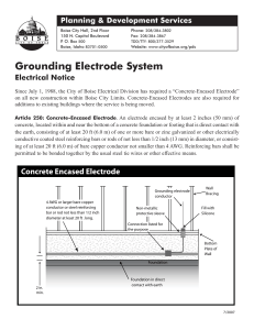 Grounding Electrode System Electrical Notice