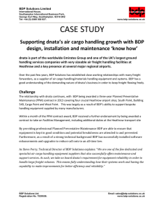 case study - Bdp Solutions
