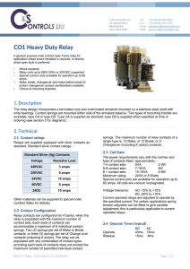CO1 Heavy Duty Relay - C and S Controls Ltd