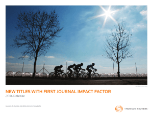 new titles with first journal impact factor