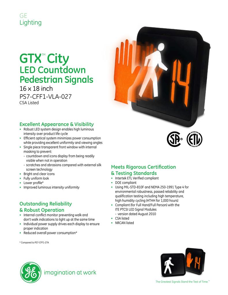 GTX™ City LED Countdown Pedestrian Signals 16 x