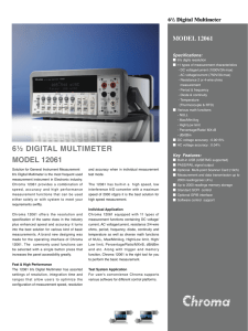 6½ digital multimeter model 12061 model 12061