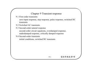 Chapter 9 Transient response