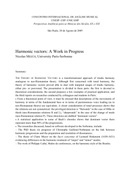 Harmonic vectors: A Work in Progress - ECA