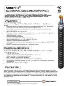 Armorlite® Type MC PVC Jacketed Neutral Per Phase