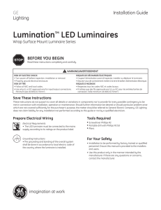Installation Guide — Lumination LED Luminaire Wrap