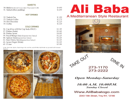 TAKE OUT - Ali Baba