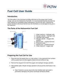 Fuel Cell User Guide